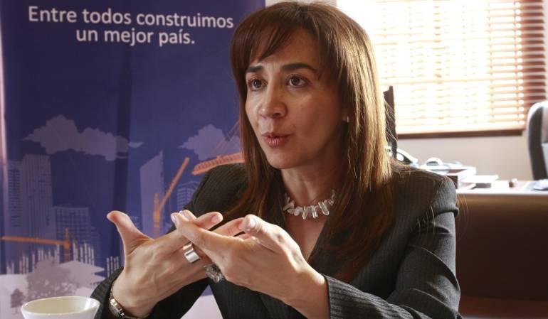 Presidente de Camacol, Sandra Forero.