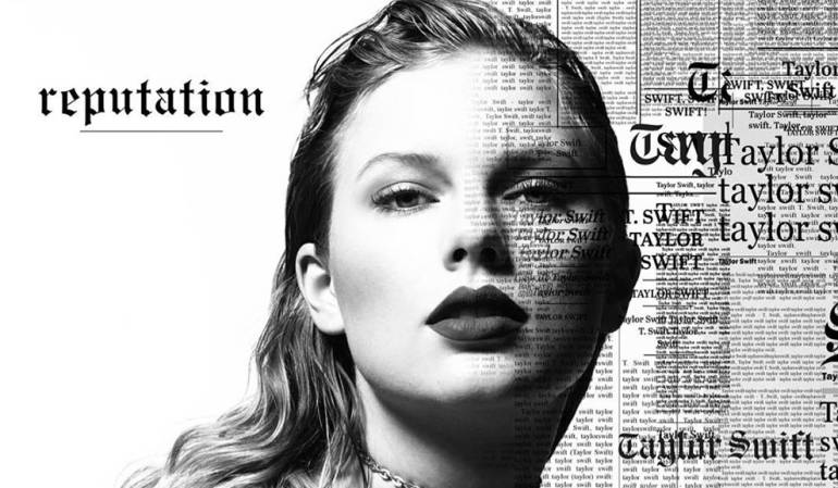 Taylor Swift en la portada de su nuevo disco, 'Reputation'