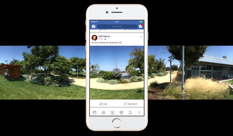 Así se pueden hacer fotos 360 con la aplicación de Facebook