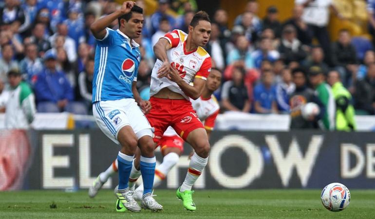 Clásico capitalino 291 Santa Fe Vs. Millonarios Liga Águila: Clásico capitalino 291: rojos, por la punta; azules, por la consolidación entre los 8