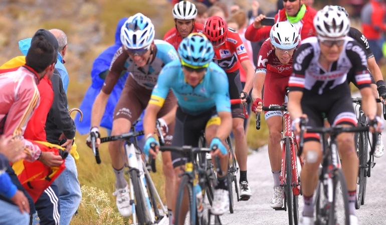 Miguel Ángel López segundo en la etapa 14 de la Vuelta España