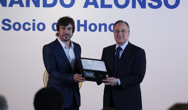 Fernando Alonso es nuevo Socio de Honor del Real Madrid