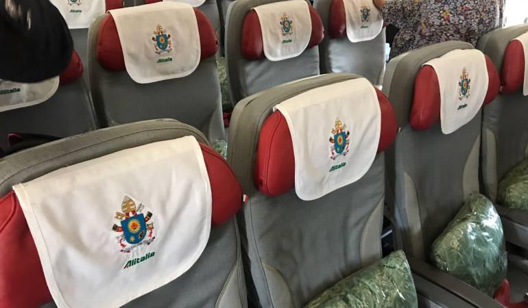 En vivo: Visita del papa en Colombia: [Video] Conozca el interior del avión del papa