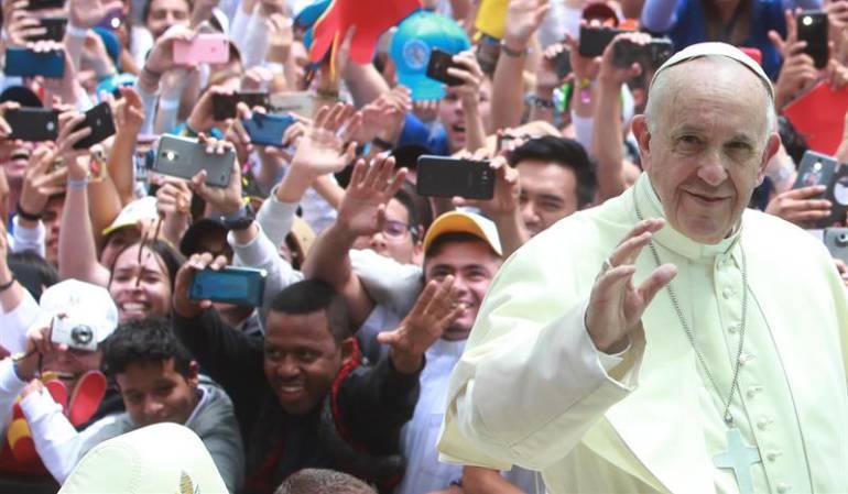 EN VIVO: VISITA DEL PAPA FRANCISCO A COLOMBIA: El papa pide que jóvenes colombianos ayuden a perdonar y dejar atrás el odio