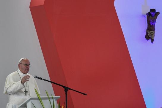 En vivo visita del papa Francisco: El papa Francisco pidió a los colombianos no perder la paz por la cizaña