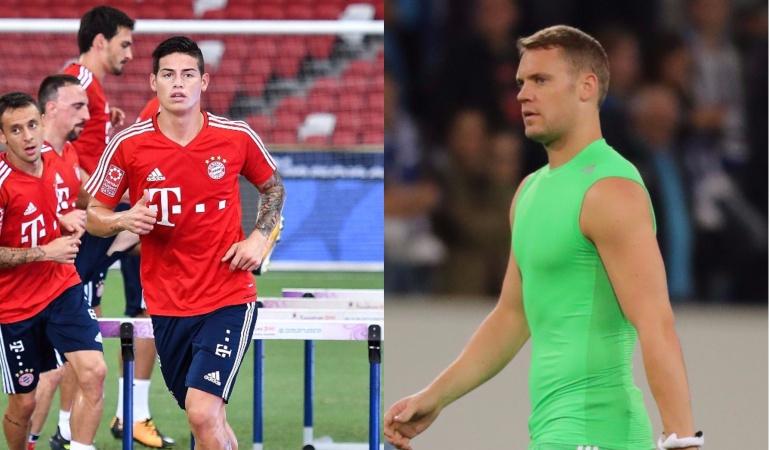 James Rodríguez Bayern Múnich Neuer: James intenta integrarse, está muy presente. Quiere ayudar al equipo: Neuer