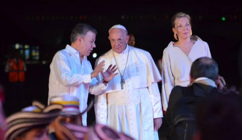 Visita del papa Francisco a Colombia: La paz ya vuela sola: Santos