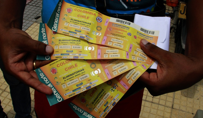Habrá vigilancia especial a la venta de boletas del juego Colombia - Paraguay