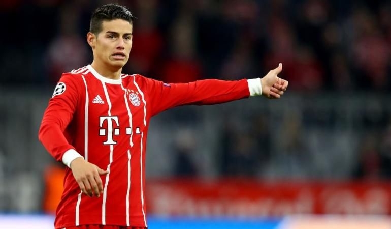 James titular Bayern Múnich Liga de Campeones: James debutó como titular con el Bayern en un juego oficial y en Champions
