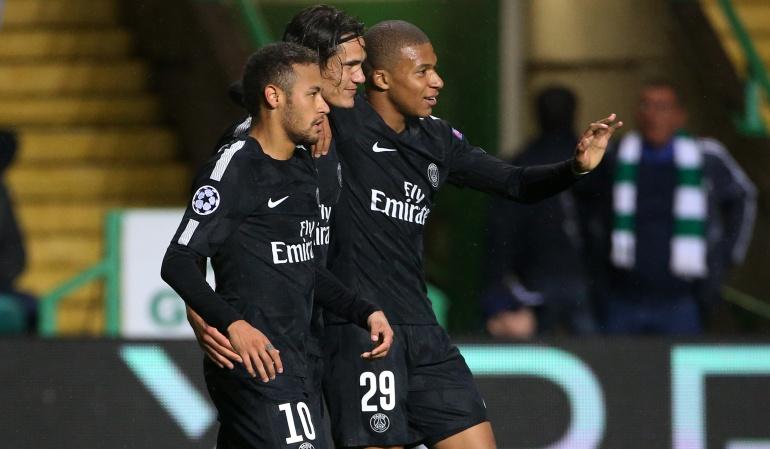 Paris Saint Germain: Neymar, Mbappé y Cavani marcan en la victoria del PSG ante el Celtic