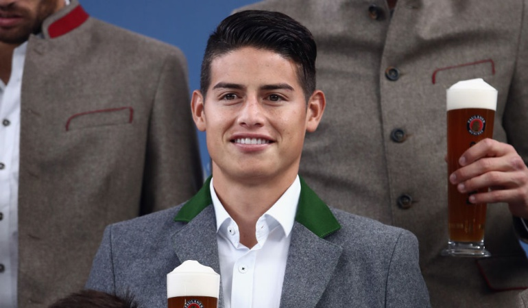 James Rodríguez Oktoberfest Bayern Múnich: James celebró su primer Oktoberfest con el Bayern Múnich