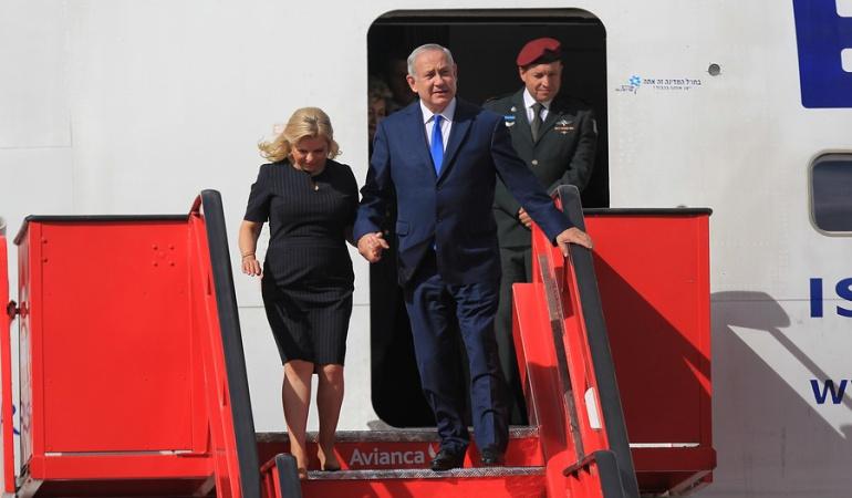 Relaciones bilaterales Colombia - Israel: Benjamin Netanyahu ya está en Colombia