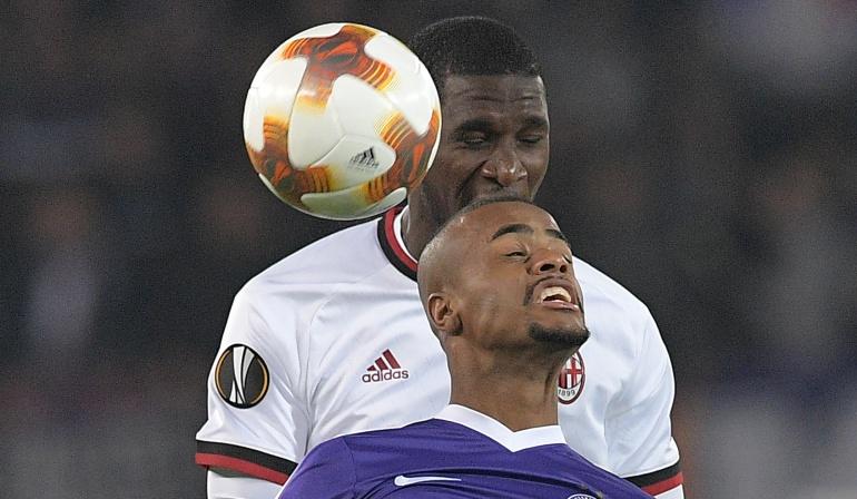 Cristian Zapata 90 minutos Milan Liga de Europa: Cristian Zapata jugó los 90 minutos en la goleada del Milan en la Liga de Europa