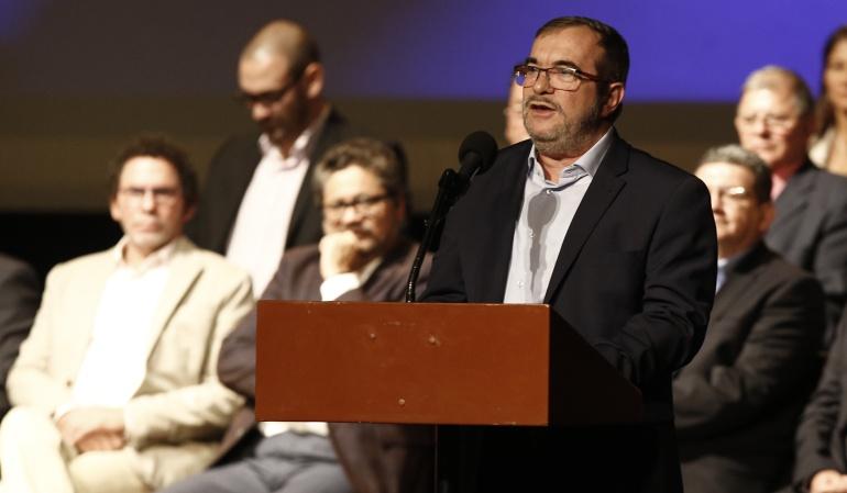 """Timochenko sigue siendo el líder de las Farc ahora en la política: Farc ratifican a """"Timocheko"""" como presidente del partido"""