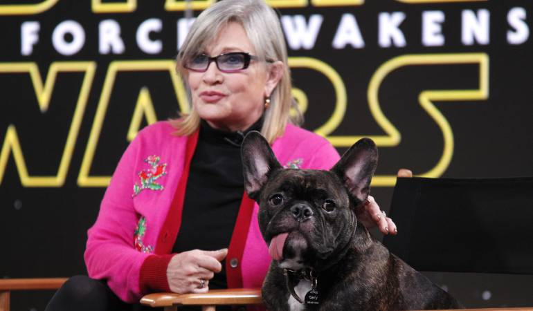 La fallecida actriz Carrie Fisher.
