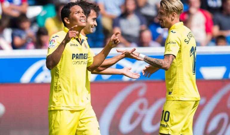 Carlos Bacca gol Alavés Villarreal: Carlos Bacca anotó en la goleada del Villarreal al Alavés