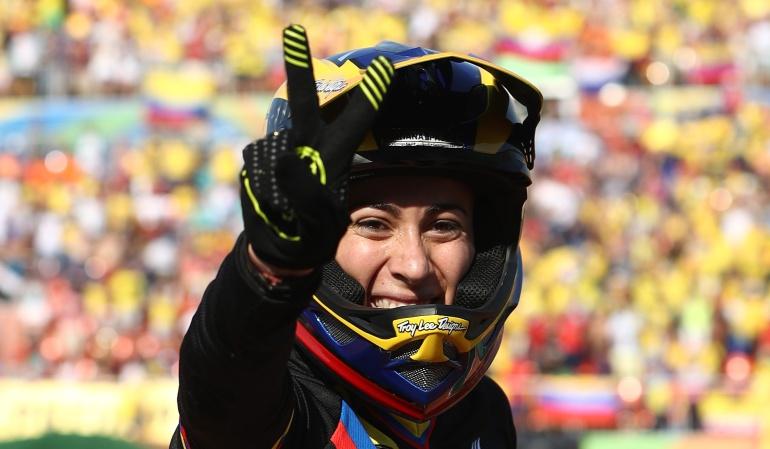 Mariana Pajón: Espectacular presentación de Mariana Pajón, oro en la sexta válida de BMX