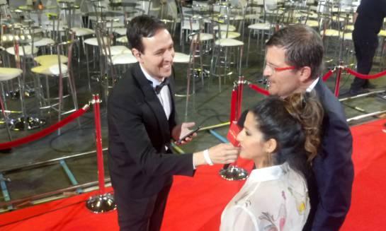 Julio César Herrera y su esposa Aida, ella una de las nominadas de la noche