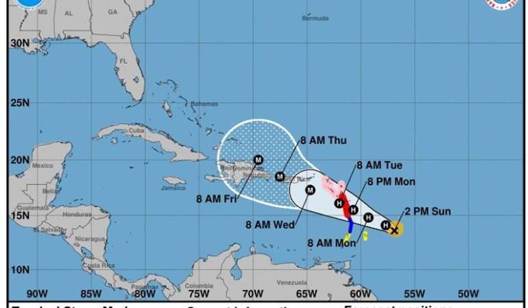 Tormenta María se convierte en Huracán y se aproxima a Puerto Rico: María se convierte en un huracán rumbo a las Antillas y Puerto Rico