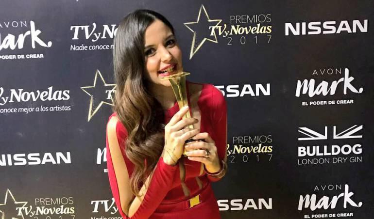 Maleja Restrepo en los premiso TvyNovelas 2017.
