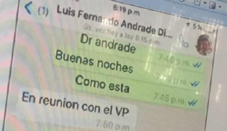 Luis Fernando Andrade responderá este jueves ante la justicia por caso Odebrecht