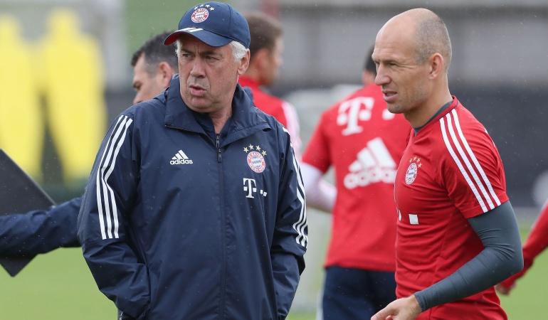 Arjen Robben Carlo Ancelotti: Mi hijo entrenaba con más intensidad que Ancelotti: Arjen Robben