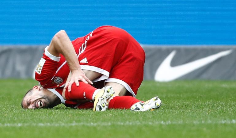 Ribery lesión: Frank Ribery sufrió una rotura del ligamento exterior de la rodilla izquierda