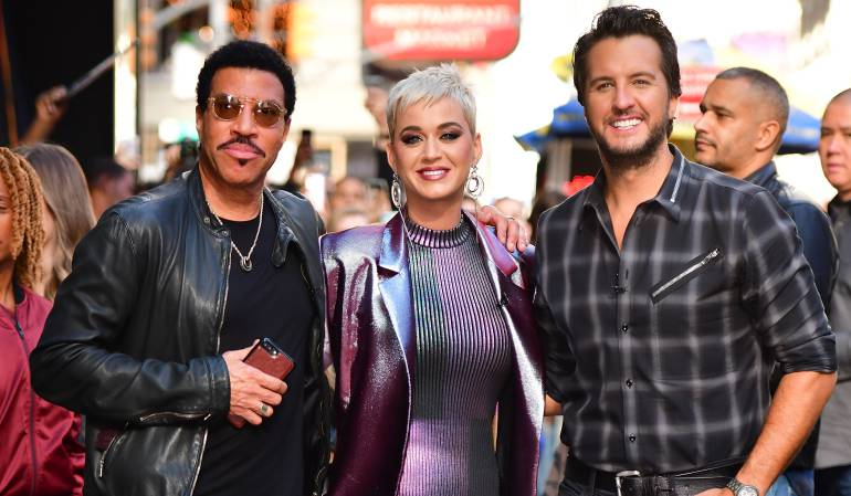 Lionel Richie, Katy Perry y Luke Bryan.
