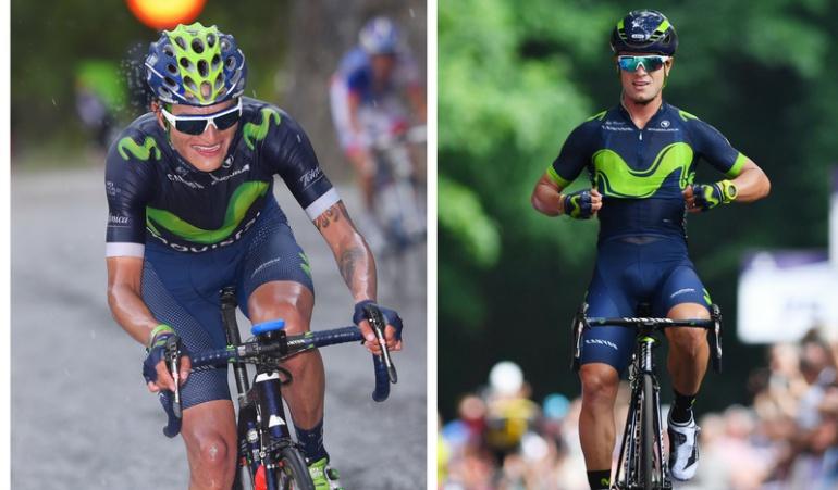 """Carlos Betancourt y Winner Anacona, Movistar Team: El """"Bananito"""" Betancourt y Winner Anacona renovaron con el Movistar Team"""