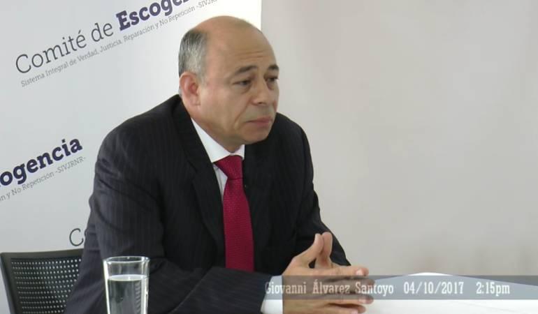 Giovanni Álvarez Santoyo es elegido como fiscal de la JEP
