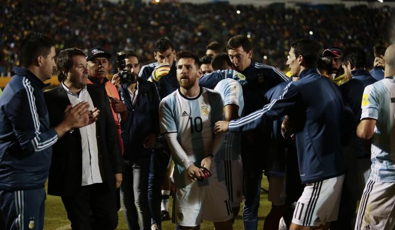 messi argentina: Recital de Messi en Quito pone a Argentina en Mundial