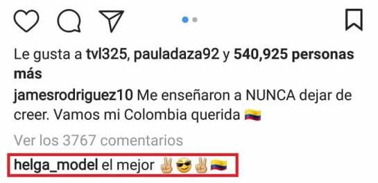 El mensaje de la modelo rusa para James Rodriguez: Uy, ¿sí tienen algo? El mensaje de la modelo rusa a James