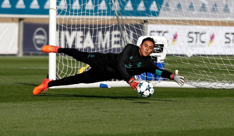 Kelor Navas Real Madrid Tottenham: Keylor Navas regresa a trabajos con el Real Madrid pensando en el Tottenham