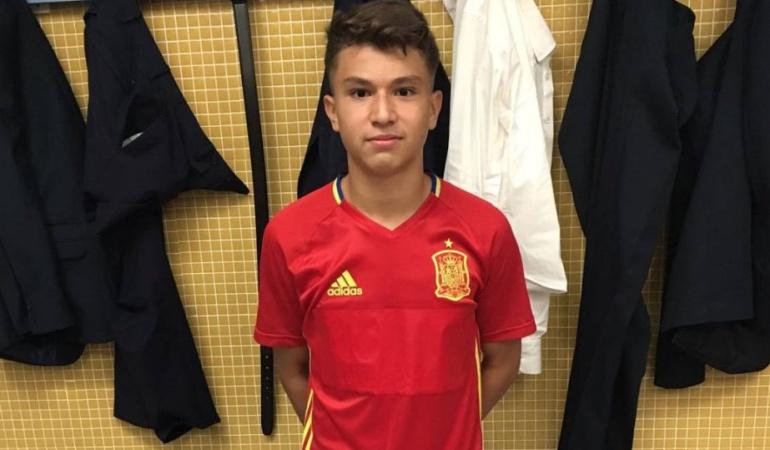 Juan David Fuentes Selección Colombia España: Juan David Fuentes, el goleador de 14 años que se disputan España y Colombia