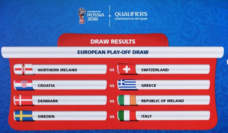 Repesca europea: Italia enfrentará a Suecia por un cupo al Mundial de Rusia