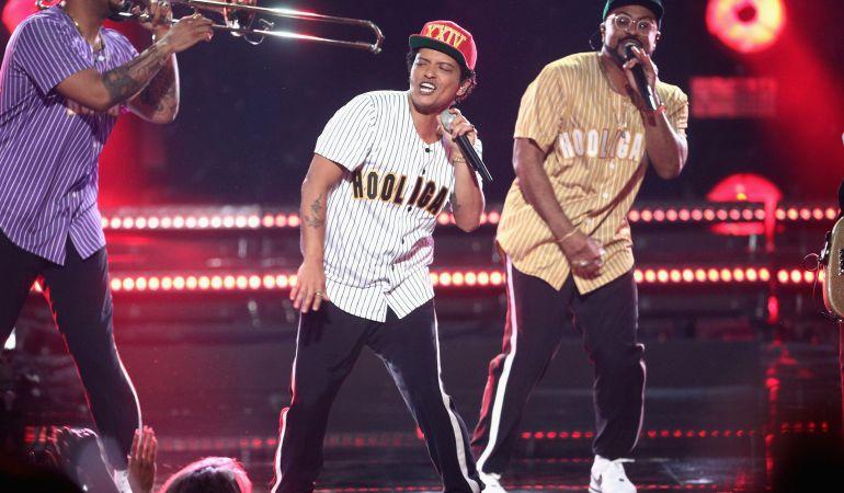 Bruno Mars en presentación