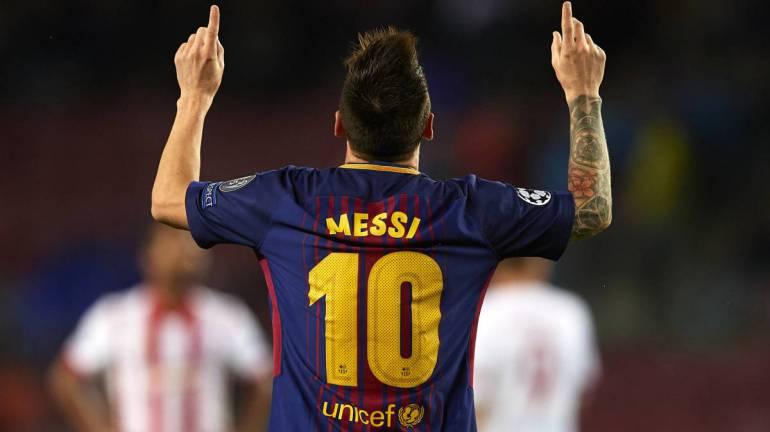 Barça se acerca a octavos con otro récord de Messi