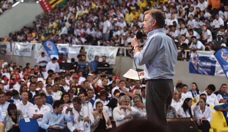 Santos pedirá al Congreso la creación del Ministerio del Deporte