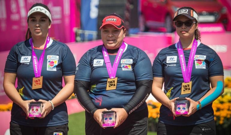 Equipo femenil gana plata en Mundial de Tiro con Arco