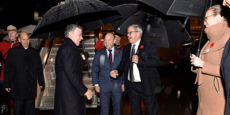 Mayor inversión para Colombia y apoyo para el posconflicto buscará Santos en Canadá
