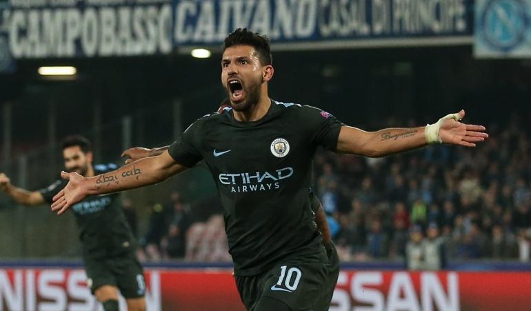 Manchester City clasificó a los octavos de final de la Champions.: El City, con gol histórico de Agüero, se clasifico a los octavos en la Champions