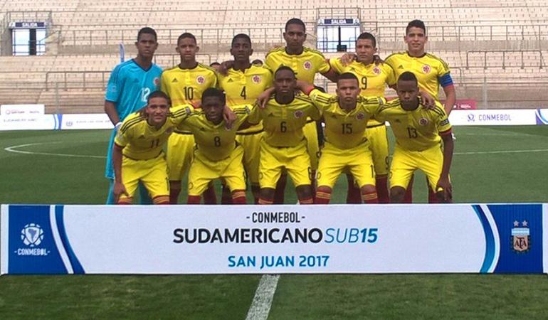 Colombia sudamericano sub 15: Colombia empató con Uruguay en tercera fecha del sudamericano Sub-15