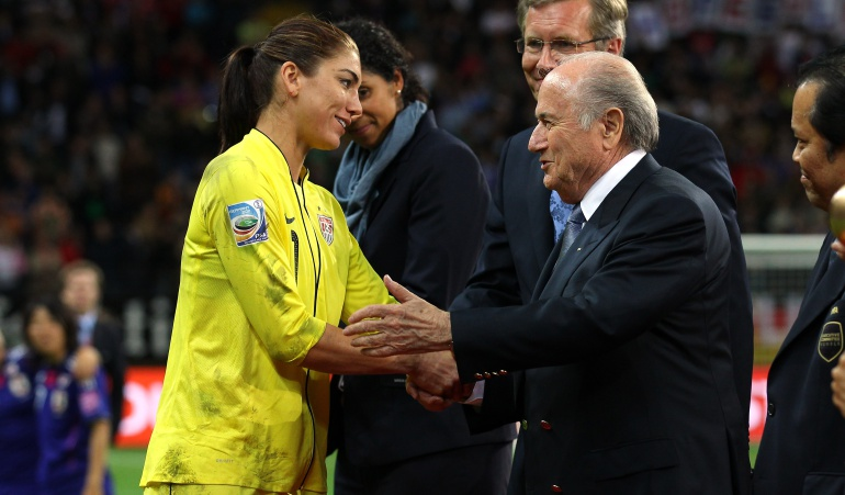 Escándalo Blatter abuso sexual Hope Solo: Joseph Blatter, acusado de abuso sexual por Hope Solo