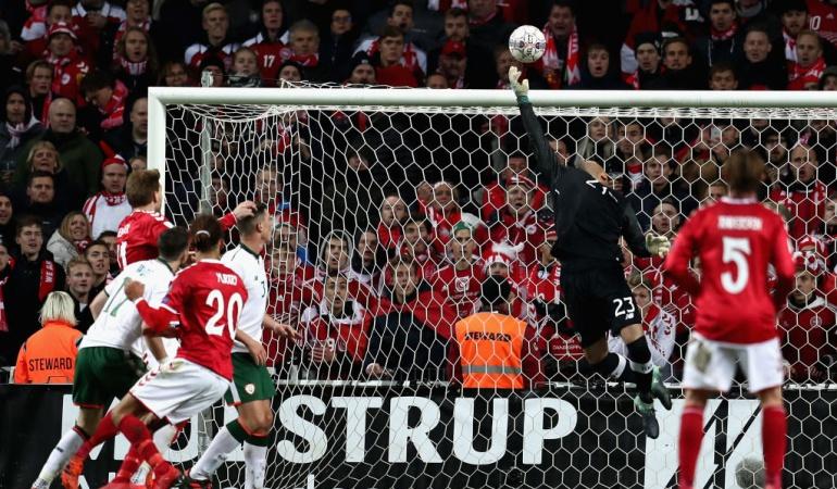 Dinamarca Irlanda repechaje: Dinamarca no pasó del empate en casa contra Irlanda