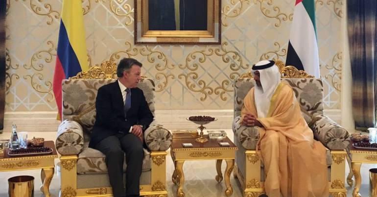 Santos llega a Emiratos Árabes Unidos en búsqueda de impulsar el comercio