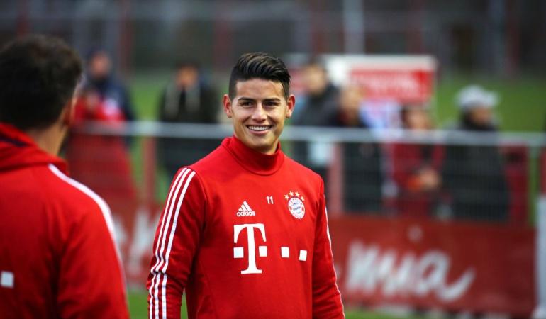 James reintegra entrenamientos Bayern Múnich: James se reintegra a los entrenamientos del Bayern Múnich