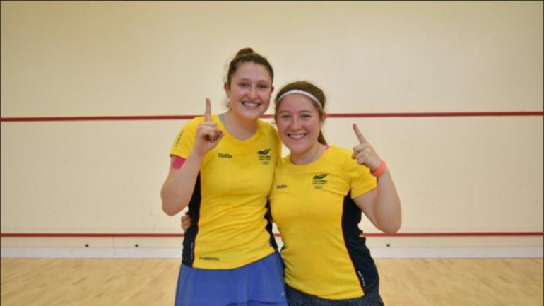 Maria y Laura Tovar, Juegos Bolivarianos oro.: María y Laura Tovar, oro para Colombia en Squash doble femenino