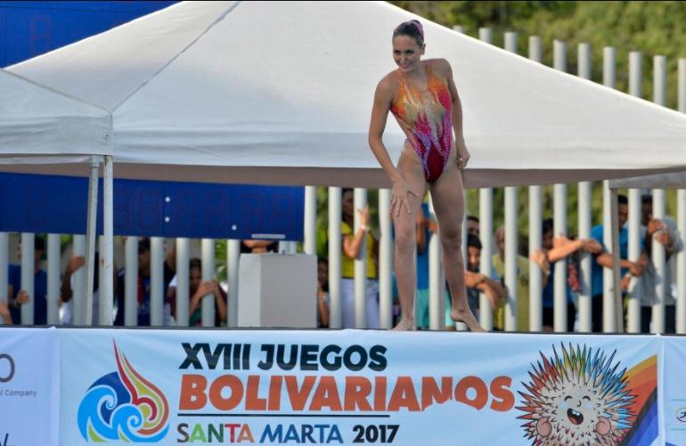 Monica Sarai, Juegos Bolivarianos.: La colombiana Monica Sarai sumó su segundo oro en el nado sincronizado