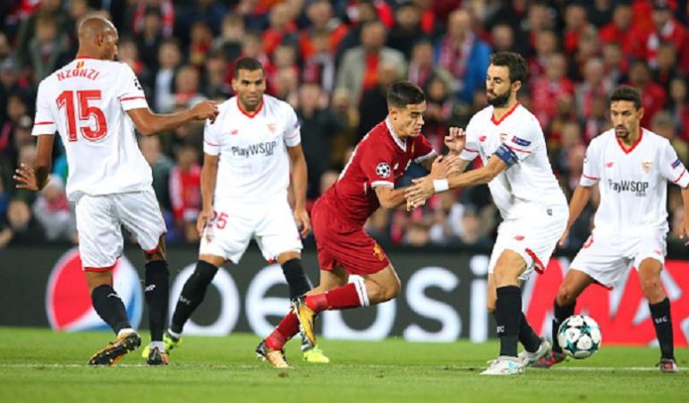 Sevilla y Liverpool irán por el liderato del grupo E en Champions League