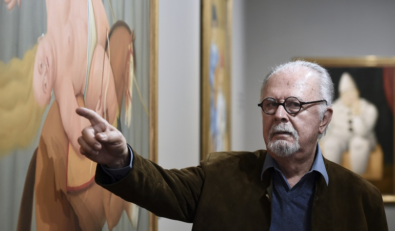 """Pintura: Fernando Botero se mira en el espejo de """"papá"""" Picasso"""